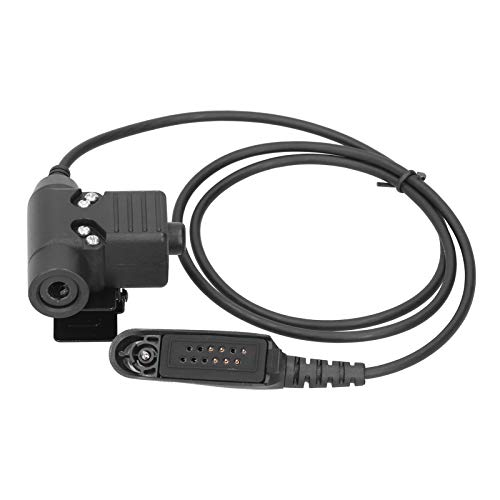 Dpofirs Adaptador de Cable de Audio PTT U94 para Moto-rola GP140 GP320 GP328 GP338 GP340 Walkie Talkie, Enchufe Adaptador de reducción de Ruido portátil