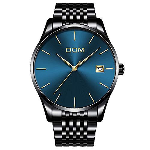 Herren Uhren Ultra Dnne Analog Quarz Mnner Uhr 30M Wasserdicht Mann Armbanduhr Datum Herrenuhr mit Edelstahl Armband