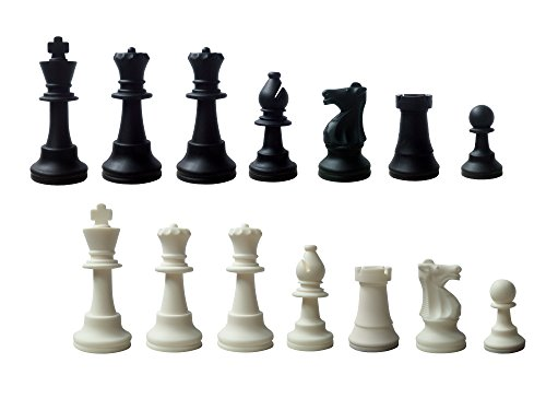schach queen Pièces d'échecs King en Silicone Hauteur 98 mm, E250, Blanc/Noir