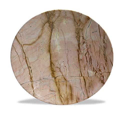 Très Grande Thai Marbre platines, 38.5 cm de diamètre – Choisissez Couleur/Design. (Motif A-p)