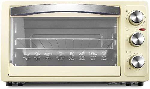 Wghz Mini 30L Elektroofen mit Temperatureinstellung 0-230 ℃ und 0-60 Minuten Timer, 1050W Dreischichtiger Glastürofen Backofen Kleingeräte