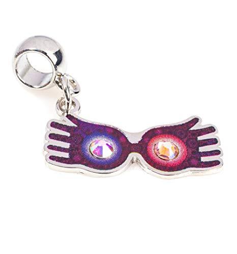 Silver Plated Harry Potter Luna Lovegood Glasses Slider Charm