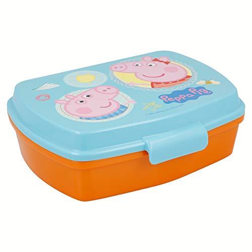 | Peppa Pig | Sandwichera Para Niños Decorada - Fiambrera Infantil | Caja Para El Almuerzo Y Porta Merienda Para Colegio - Lonchera