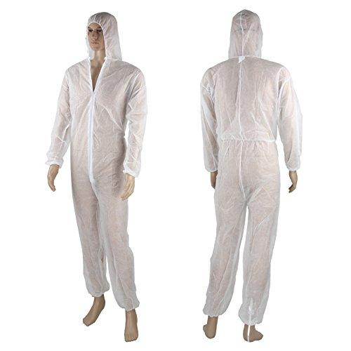 Einwegoverall Maleranzug Schutzanzug Lakieranzug Overall weiß XL