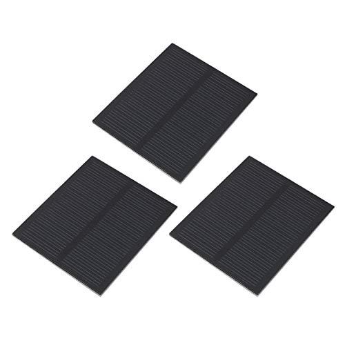 DAUERHAFT Cargador de Panel Solar al Aire Libre a Prueba de Agua 3pcs Cargador portátil para Acampar Plegable Carga Solar Mini Pet Ligero 0.5W 5.5V para teléfonos celulares, iPhone, iPad, Android