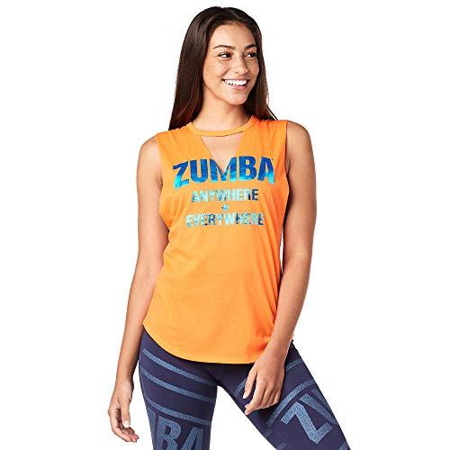 Zumba Camiseta Suelta sin Mangas con Tirantes de Entrenamiento Transpirable para Mujer Mediano Orange te Caliente