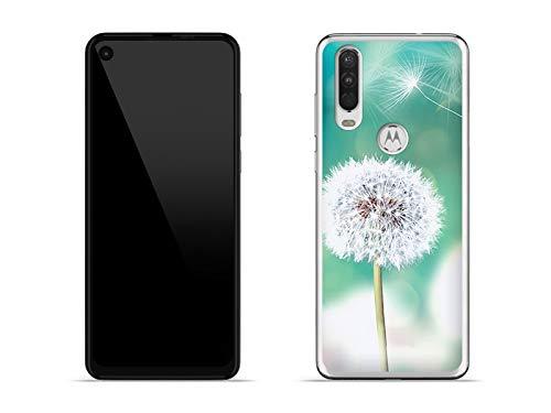 etuo Hülle für Motorola One Action - Hülle Foto Hülle - Pusteblume Handyhülle Schutzhülle Etui Hülle Cover Tasche für Handy
