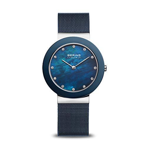 BERING Damen-Armbanduhr Analog Quarz Edelstahl 11435-387