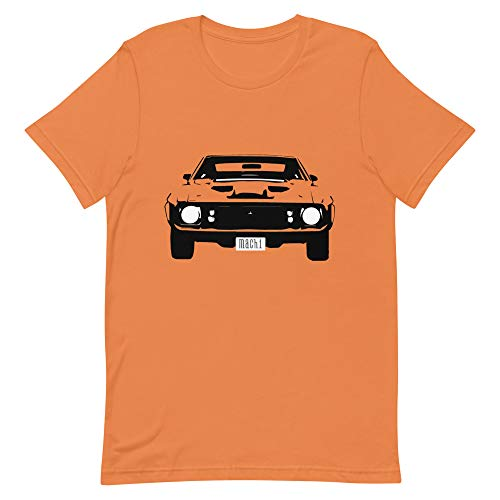 1973 Mustang Mach 1 Short-Sleeve Unisex T-Shirt Burnt Orange