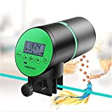 Winbang Comedero de Peces Automáticos, Alimentador Temporizador de Alimentación Dispensador de Alimentos para Peces Recargable con Pantalla LCD para...
