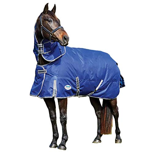 Weatherbeeta Comfitec Premier Free Detach-A-Neck-Decke, schwer, dunkelblau/grau/weiß, 190,5 cm