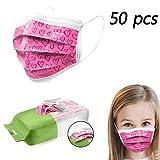 50 Stück Kinder Einmal-Mundschutz, Staubs-chutz Atmungsaktive Drucken Mundbedeckung, Kinder, Unabhängige Verpackung Face-Mouth Cover Sommerschal