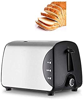 zvcv Toaster Five-Speed Double-Sided Baking Widening Card Slot Stainless Steel Sandwich Maker Breakfast Machine, 750W