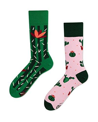 Many Mornings Verrückte Socken damen und herren crazy socks Sommer Kaktus socken (43/46)