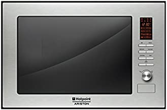 Hotpoint MWHA 222.1 X Integrado 25L Acero inoxidable - Microondas (Integrado, 25 L, Botones, Giratorio, Acero inoxidable, 595 mm, 388 mm)