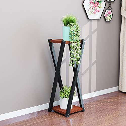 Balcon voyantes Cadre à fleurs en fer forgé en bois massif sur plusieurs niveaux salon radis vert balcon charnu support de pot de fleur 80 * 20 * 20 Plantes d'extérieur Présentoir (Couleur : E)