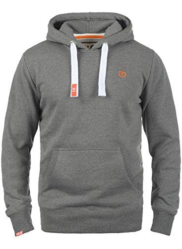 !Solid BennHood Herren Kapuzenpullover Hoodie Pullover Mit Kapuze Und Fleece-Innenseite, Größe:L, Farbe:Grey Melange (8236)