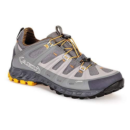 AKU M Selvatica GTX Grau, Herren Gore-Tex Hiking- und Approach-Schuh, Größe EU 45 - Farbe Grau - Ocker