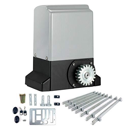 Cozyel Motorizzazione per cancello scorrevole - 750W, 2 telecomandi, 2 sensori a infrarossi inclusi e rack, max. 2000 kg - Apriporta automatico, motore per porte scorrevoli