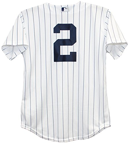 Majestic Athletic Derek Jeter New York Yankees Home Pinstripe Youth Baseball Jersey