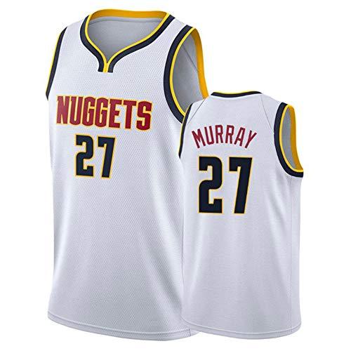 LUCKY Completo Basket Uomo,Donne Jersey Uomo - NBA Nuggets 27# Murray Maglie Traspirante Ricamati Pallacanestro Swingman Jersey, (Size:S-XXL),3,L
