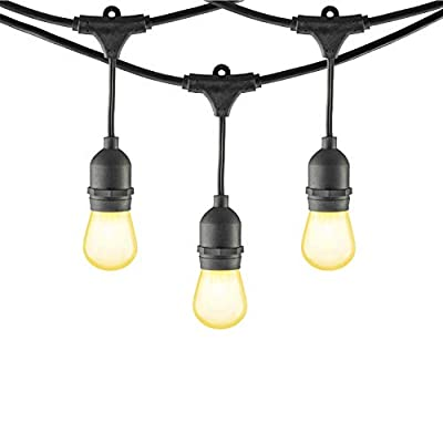 Mr Beams MB10023-BLK Incandescent, S14 Bulb String Lights