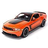 JKSM Coche Modelocinc 1:24 para Ford para Mustang para Boss 302 Simulación Coche Deportivo Estático Vehículos Fundición Modelo Coleccionable Juguetes Regalo (Color : Orange)