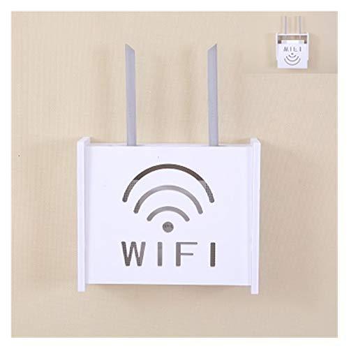 Rack Wifi Estante de pared de almacenamiento enrutador Estante WiFi Top de rack, conjunto de gabinete de TV para el hogar creativo, caja de enrutador de marco, estante de almacenamiento de portador de