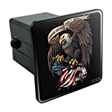 Graphics and More These Colors Don't Run Patriotic Eagle USA American Flag Tow Trailer Hitch Cover Plug Insert