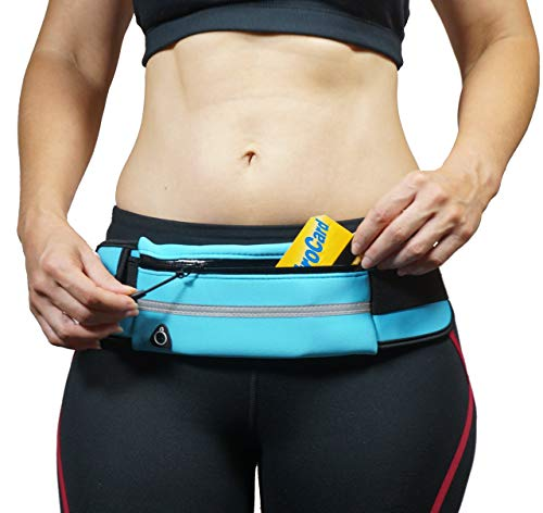 dimok Running Belt Waist Pack - Water Resistant Runners Belt Fanny Pack for Hiking Fitness – Adjustable Running Pouch for All Kinds of Phones iPhone Android Windows