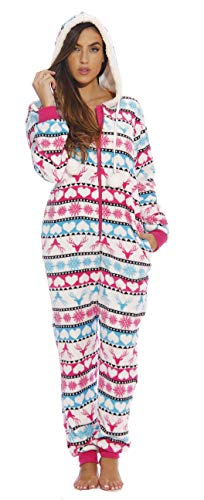 6415-M #FollowMe Adult Onesie / Onesies / Pajamas, Luv Buck Fairisle, Medium