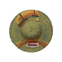 wedare rodi grecia magnete frigorifero a forma di cappello 3d souvenir turistici magneti adesivi in resina magneti frigo decorazione per la casa e la cucina dalla cina