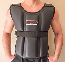 Athletics Gear Adjustable Weighted Jacket Vest For Training Running Fitness & Weight Loss, Black