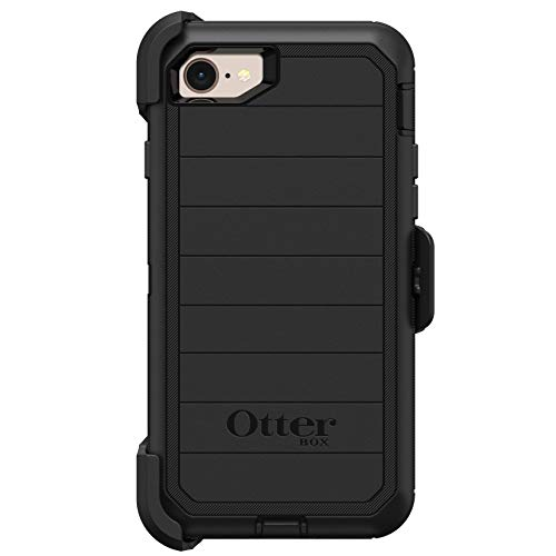 OtterBox DEFENDER SERIES Case & Holster for iPhone 7 / 8 Only (Not for PLUS) - Black (Renewed)