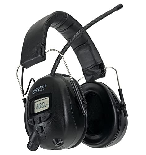 Stagecaptain ContraNoise FM-28 Protectores Auditivos Cascos Ruido de Hasta 28 dB - Protector Auditivo Auriculares con Radio FM - Conector AUX Estéreo para Trabajar e Industrial