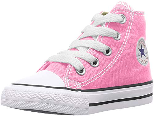Converse Kids' Chuck Taylor All Star Canvas High Top Sneaker Pink 8 M US Toddler