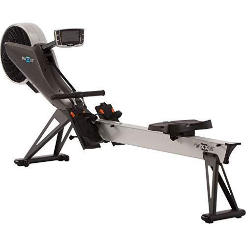 Maxxus Studio 10.0 - Máquina de Remo de Aire y magnético, Plegable, Ahorra Espacio, simulación de competición, Muy silenciosa