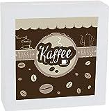 Home Collection Hogar Muebles Decoración Accesorios Juguetes Hucha con Marco Cuadrado Motivo Kaffee 15x5x15cm