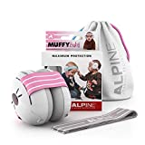 Alpine Muffy Baby Ear Protection for Newborn and Babies up to 36 Months – Noise Reduction Earmuffs for Toddlers and Children – Comfortable Infant Ear Muffs Prevent Hearing Damage & Improve Sleep, Pink