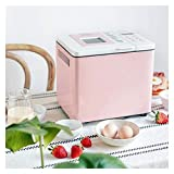 XIAOGING Automático Máquina de hacer pan, Ajuste programable máquina de pan con gluten libre, pantalla LED, Menú, 3...