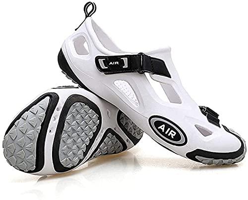 Scarpe da ciclismo da uomo, da donna, non bloccanti, per mountain bike, per il tempo libero, scarpe da corsa, bicicletta, senza blocco, colore bianco 2-35EU