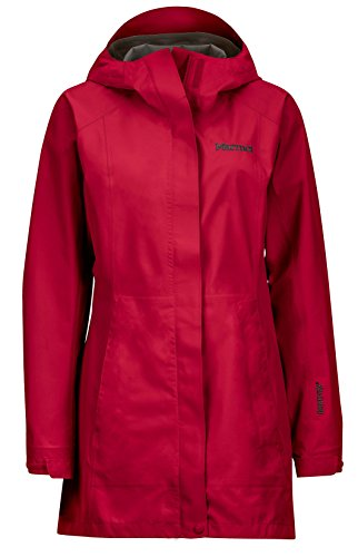 Marmot Women's Essential Lightweight Waterproof Rain Jacket, GORE-TEX with PACLITE Technology, Dark Raspberry