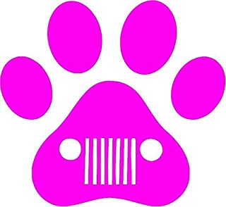 Family Connections Jeep Dog PAW Vinyl Decal Sticker for Window ~Car ~ Truck~ Boat~ Laptop~ iPhone~ Motorcycle~ Size 4