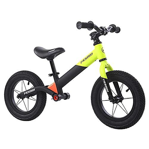 XGYUII Aleación de aluminio competitiva niños equilibrio bicicleta 1-6 años de edad bebé entrenamiento bicicleta sin pedal bebé niño scooter equilibrio bicicleta naranja-verde