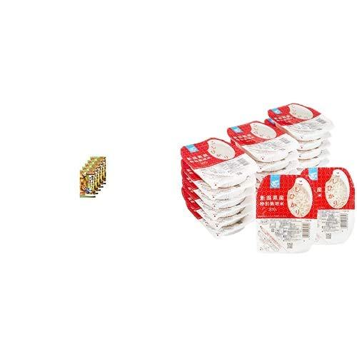 味の素 CookDo 豚肉ともやしの香味炒め用2人前×5個 + Happy Belly パックご飯 新潟県産こしひかり 200g×20個(白米) 特別栽培米