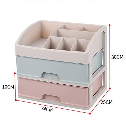 BOX Multicouche Type de Tiroir Cosmétiques Boîte de Rangement de Bureau En Plastique Rouge À Lèvres Bijoux Affichage Soins de La Peau Produits Boîte d