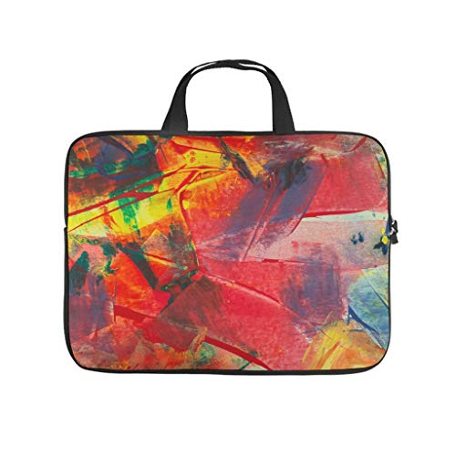 Oil Graffiti on Canvas Texture Laptop Bag Wear-Resistant Protective Case for Laptops Tailored Notebook Bag for University Work Business