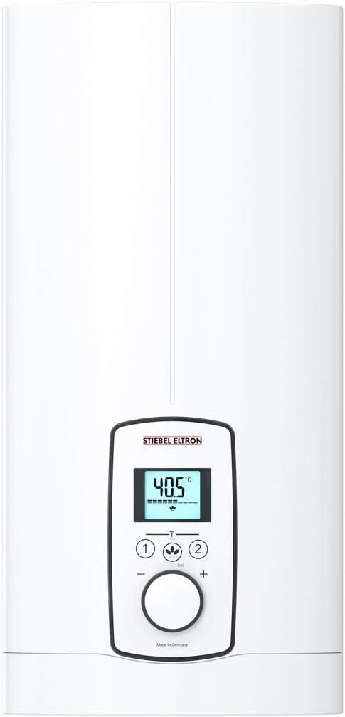 Stiebel Eltron elektronisch geregelter Durchlauferhitzer DEL 18/21/24 Plus, umschaltbar, LC-Display, gradgenaue Wunschtemperatur, 236739