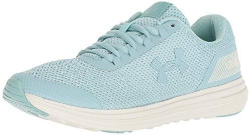 Under Armour Women's Surge Running Shoe, Seaport (300)/Ivory, 11