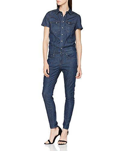 G-STAR RAW Damen Tacoma Slim Jumpsuit, Blau (dk Aged 8980-89), S